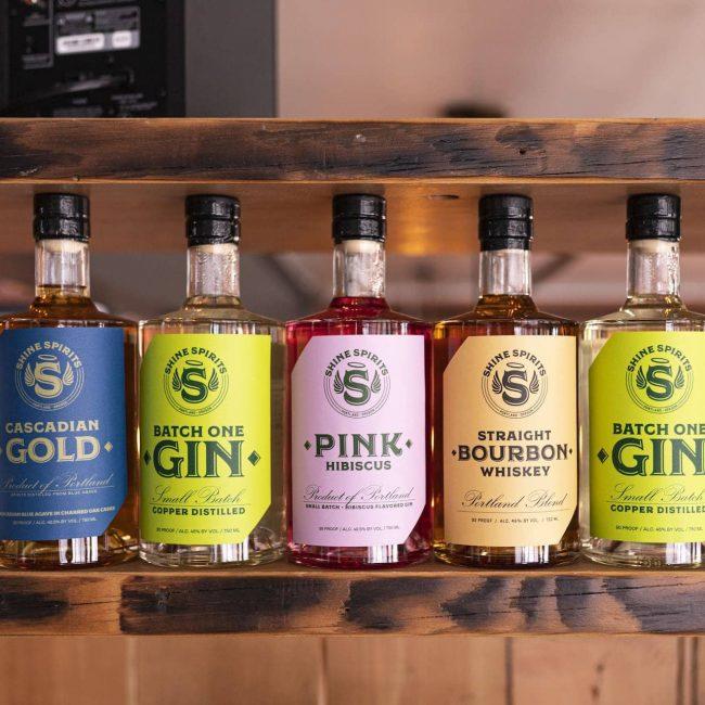 Shine Distillery & Grill Display Shelves